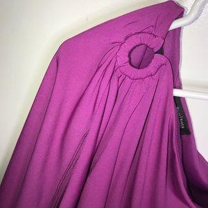 White House Black Market Dresses - WHBM Pink Off Shoulder Dress Size 2
